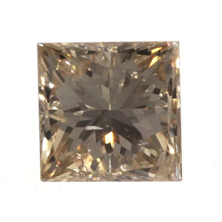 0.07 ctw Champagne-C4 SI1 Clarity 2.32x2.31x1.67 mm Princess Cut Natural Diamond
