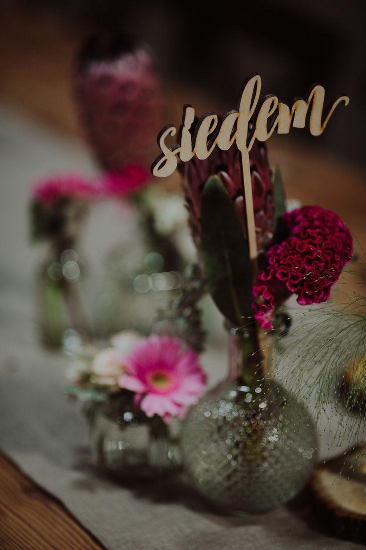 rustic wedding / vases / fot. Ola Gruszka Fotografia