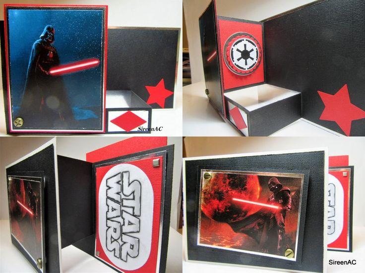 Star Wars card Handmade Darth Vader