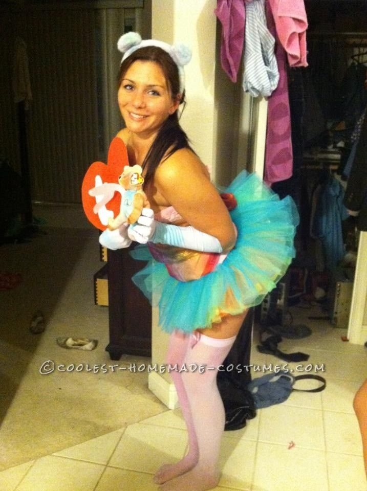 Cute TY Peacebear Beanie Baby Costume... This website is the Pinterest of costumes