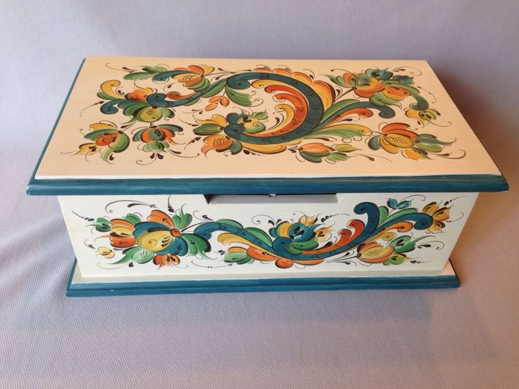 Norwegian Rosemaling Vintage Box by VGM Winner Nancy Morgan…