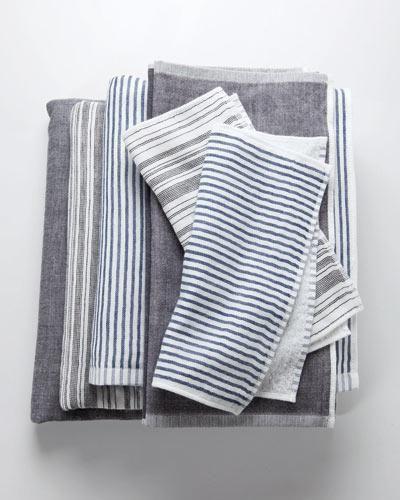 Chambray stripe dishtowel