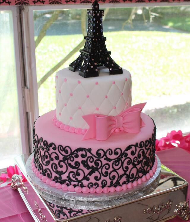 eiffel tower baby shower cakes