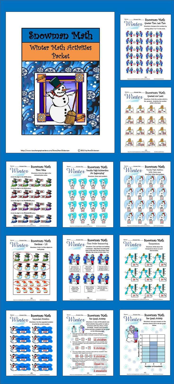 126 best Math Packets images on Pinterest | Math activities ...