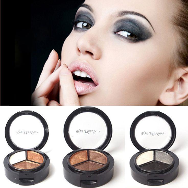 Cosméticos colorido de tres colores de sombra de ojos ahumado Natural paleta sombra de ojos Set maquillaje