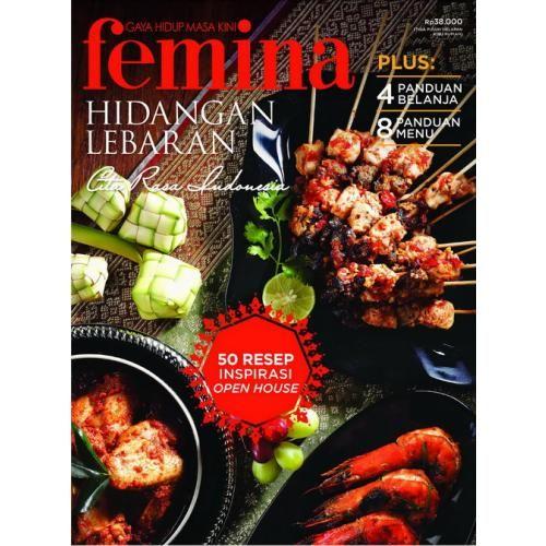 BUKU HIDANGAN LEBARAN FEMINA 2014, Cita Rasa Indonesia & 50 Resep Inspirasi Open House  4 Panduan Belanja Inspiratif & 8 Set Menu Lengkap :    - Jamuan Mewah - Light and Delicious - Rasa Lama Tampil Gaya - Menu Hemat + 5 Resep Cookies    Dapatkan di toko buku atau pesan di 021-4682 5555 atau ke langganan@feminagroup.com Atau beli secara online, klik: http://www.ipelanggan.com/index.php/books/boga/pcfmn14911.html