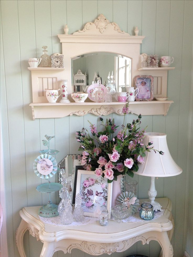 Shabby Chic So Want This Mirrored Shelf Pinterest Shelves And Decor