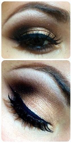Stunning eye makeup for brown eyes ;-)