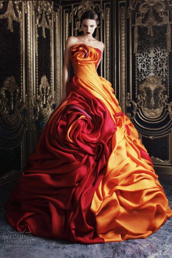 rami kadi couture 2013 multi color ball gown