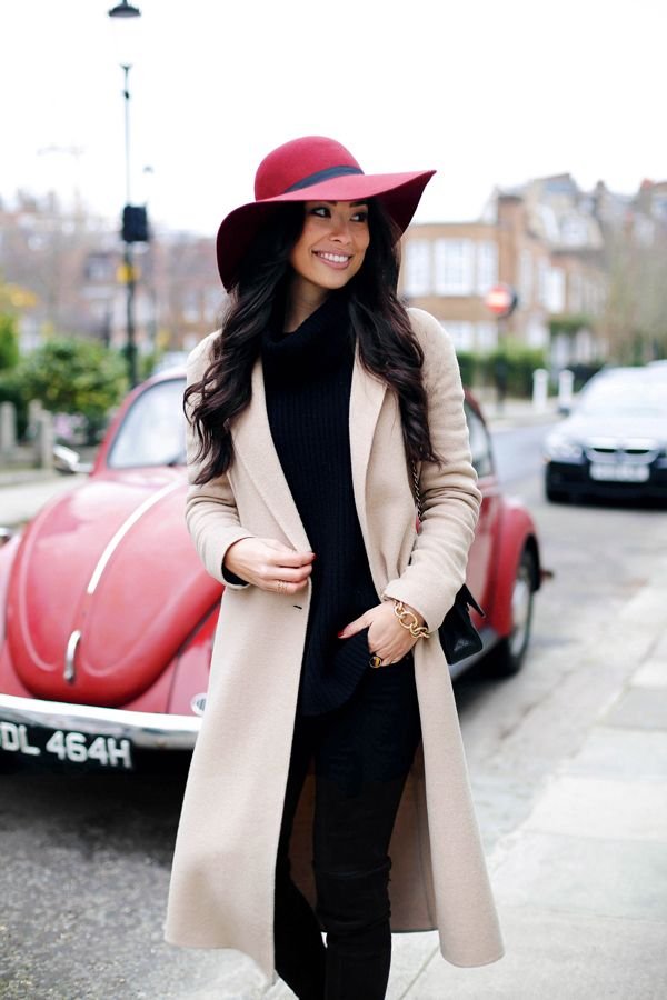 Camel Coat in Knightsbridge - Sandro coat // Theory turtleneck Seven For All Mankind jeans // Julie Vos bracelet // ASOS hat Stuart Weitzman boots // Chanel bag Monday, January 12, 2015
