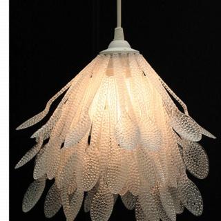 Plastic spoon lamp