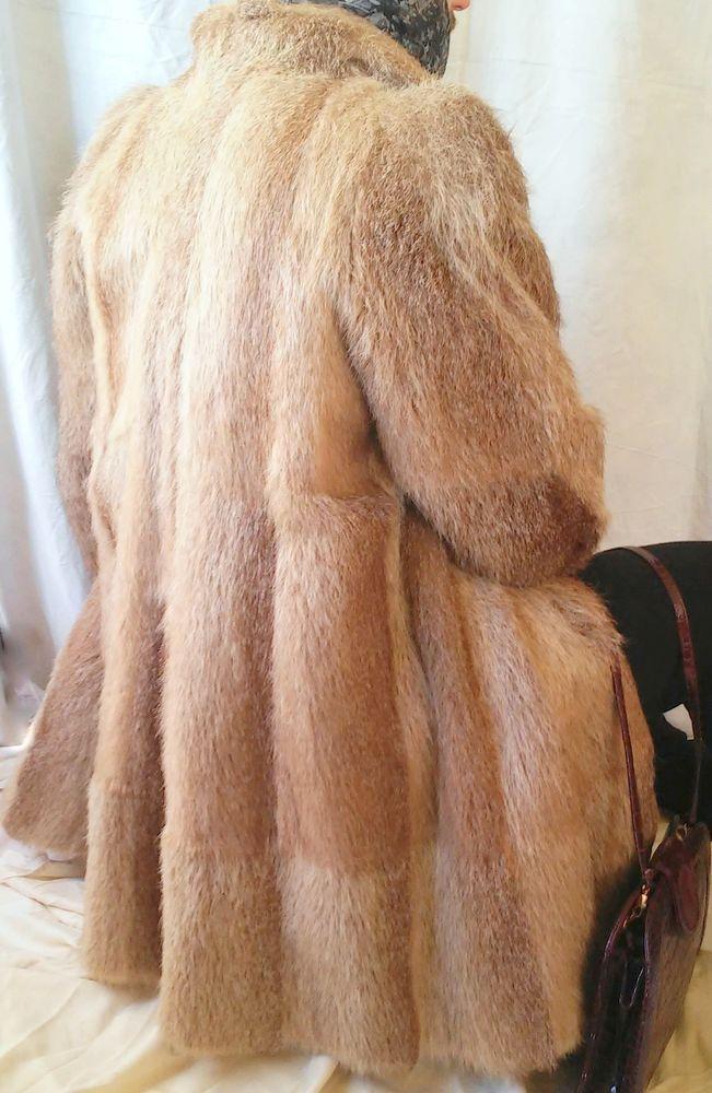 Beautiful Women's Beige Nutria Fur Coat Size XL #Fur #BasicCoat #Furcoat #eBay #Fashion