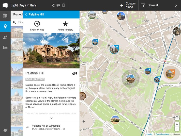 View detailed information about any activity right beside the map - no more windows.