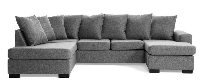 Produktbild - Vegas, 3-sits soffa, schäslong höger och divan vänster