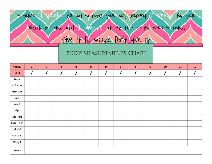 "Body Measurement Chart. Wasn't liking what I found, so I made my own. Should print on a standard piece of 8.5"" x 11"" piece of paper. ~SB"