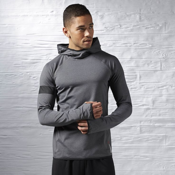 Built for moving bodies, built for performance. With its ergonomically cut seams, this lightweight layer makes the perfect cover-up and cuts excuses with its next-to-nothing feel and sweat-managing tech.