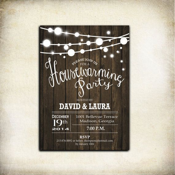 35 best invitations images on Pinterest Housewarming invitations