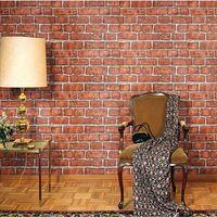Papel de parede papel de parede de tijolo vermelho auto para banheiro adesivo