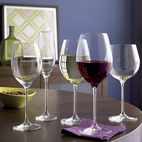 Oregon 16 oz. Light White Wine Glass in Wine Glasses | Crate and Barrel