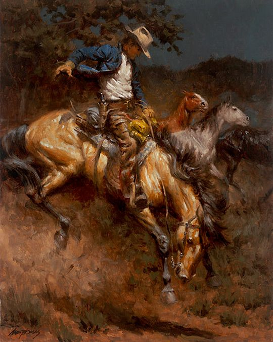 ANDY THOMAS The Lone Cowboy Takes a Horse