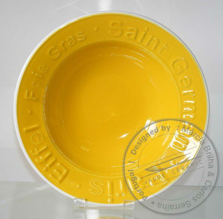 Pasta Plate   PARIS Yellow   by Carlos Serralha 2014