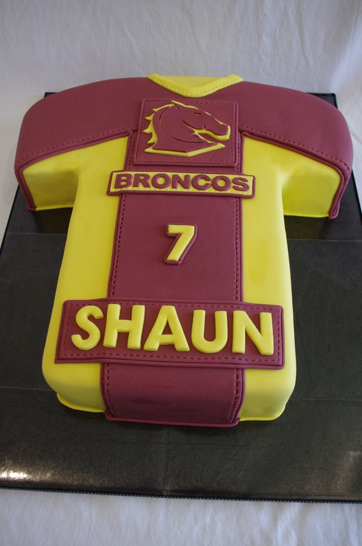 Brisbane Broncos Jersey Cake - hopefully you will Support mummies team and we can have a cake like this