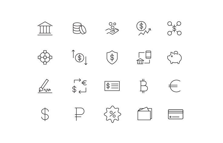 """Icons """"Finances"""""""
