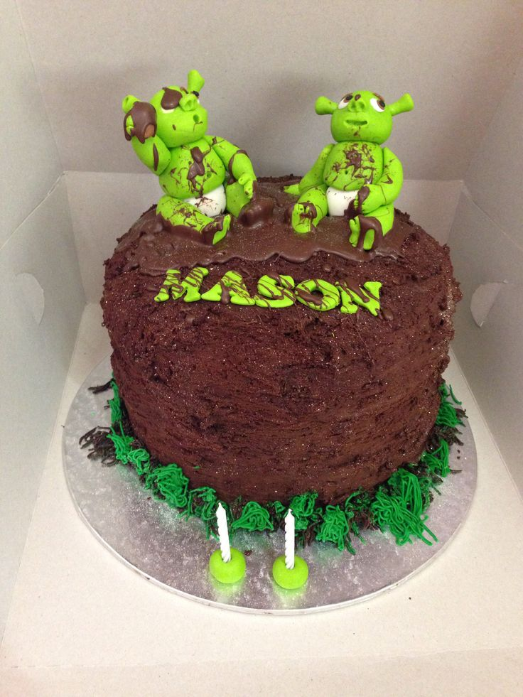 Shrek babies mud cake