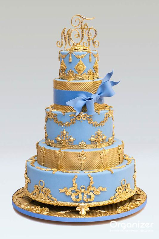 babycakes wedding cakes ben israel five tier blue wedding cake with 10999