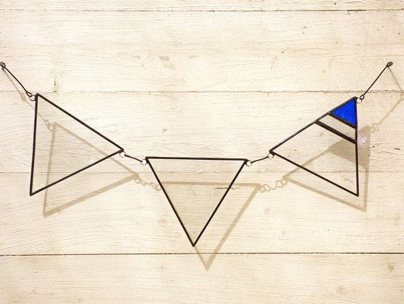 Stained Glass Bunting Flags, Suncatcher Flag, Hanging Bunting Flag, Home Decor Bunting Flag, Nursery Decor Flag