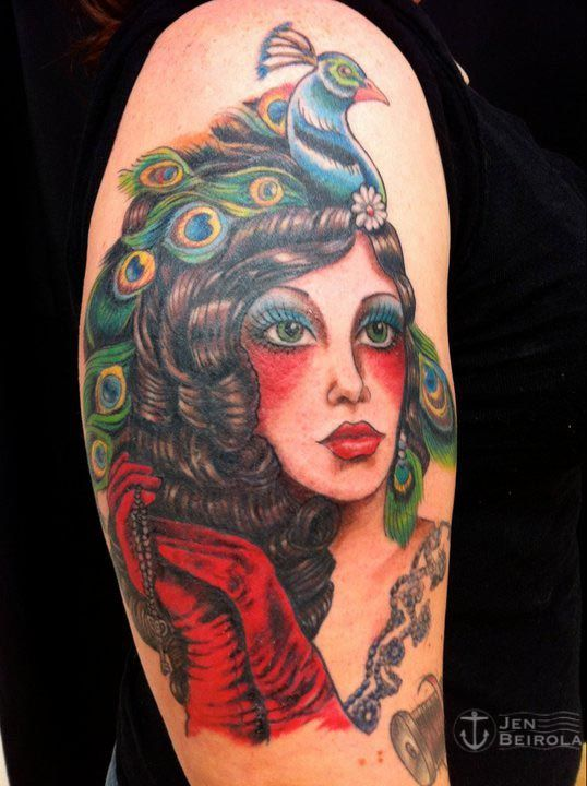 Victorian hat Tattoo Tattoo Artist: Jen Beirola Boston, MA