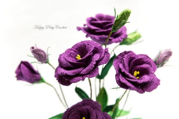 Crochet Lisianthus Flower Pattern by Happy Patty Crochet