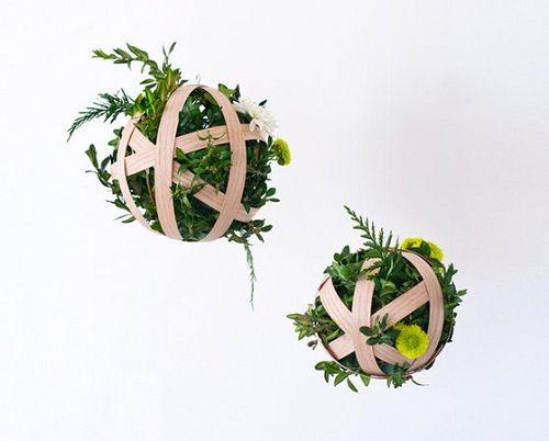 МК подвесной декор с цветами
