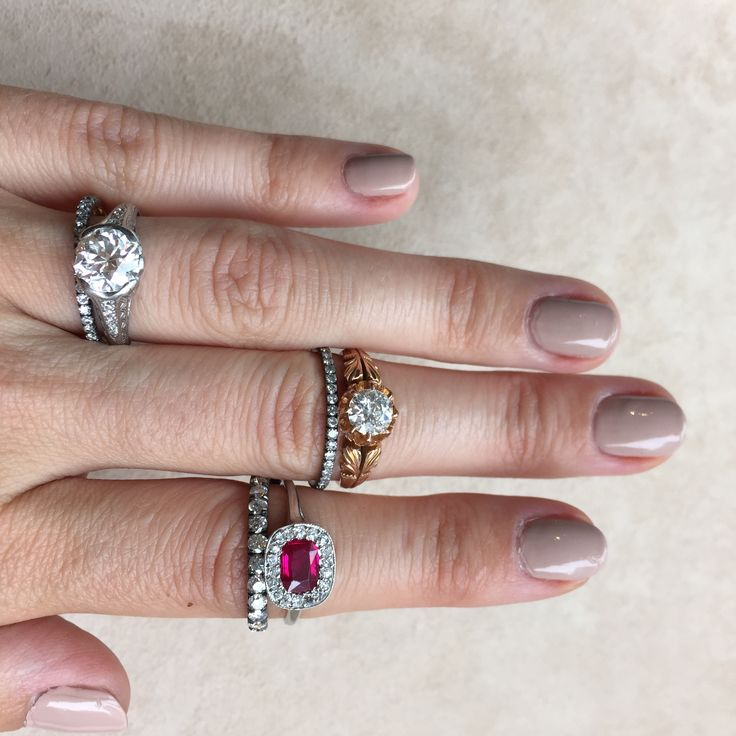 Our Wedding Band Guide | find out which bands fit best with vintage engagement rings | Erstwhile