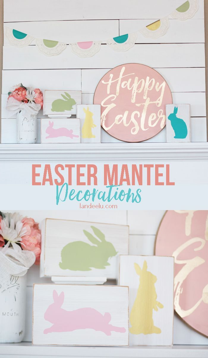 Pretty Easter Crafts Mantel Decorations - DIY Tutorials from Landeelu