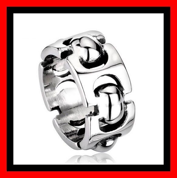 Mooie brede RVS Edelstalen ring