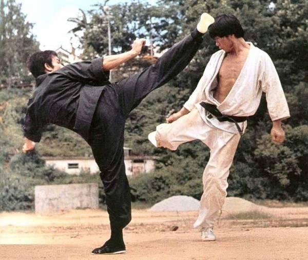 Burce Lee kicking, i think, Hapkido master Wong Sing ik