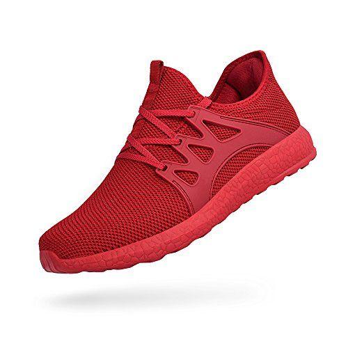 ZOCAVIA Chaussures de Sport en Mesh Homme Femme Basket Lacets Chaussure  Running Leger Et Confortable Rouge 38 EU 00a89812d70