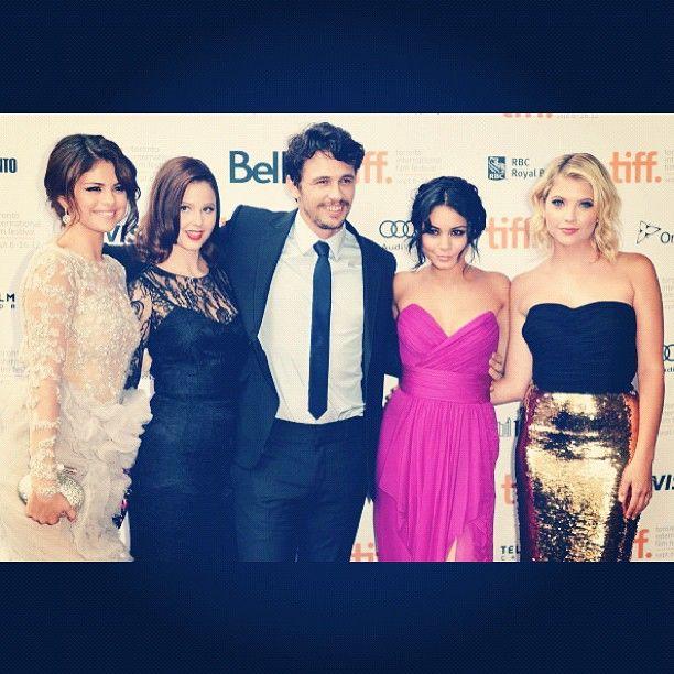 Selena Gomez, Rachel Korine, James Franco, Vanessa Hudgens, and Ashley Benson