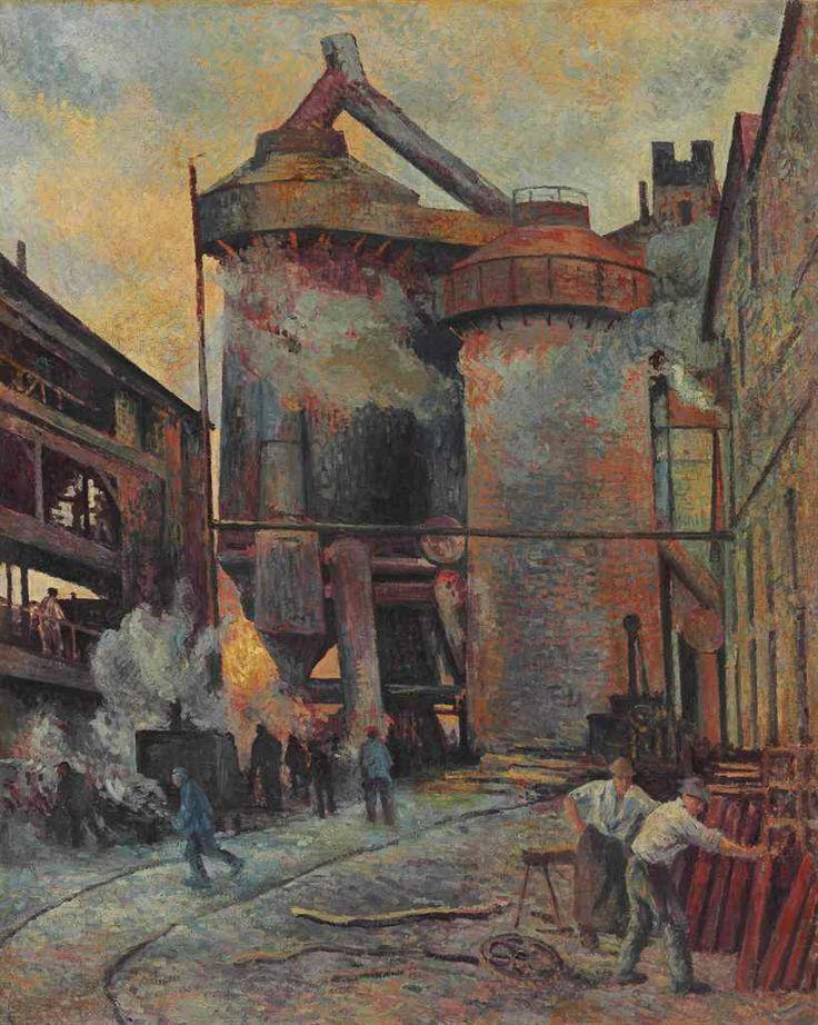 Maximilien Luce (1858-1941) Hauts-Fourneaux à Charleroi