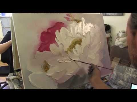 "Мастер-класс Игоря Сахарова ""Цветок мастихином"" - YouTube"