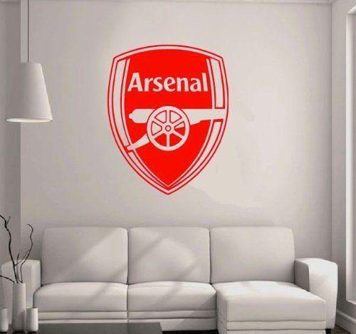 Arsenal Badge - Wall Decal Art Sticker football sport boys bedroom nursery playroom 1000mm x 850mm (Red)GVWAA02 by Gangster Wall Arts, http://www.amazon.co.uk/dp/B00DG1LVYO/ref=cm_sw_r_pi_dp_CWQwtb037JZJG