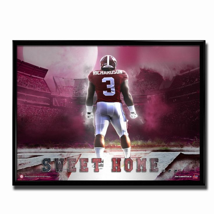 Alabama Crimson Tide Sweet Home 24x18 Football Poster