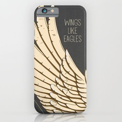 Isaiah 40:31 Wings like Eagles iPhone & iPod Case by Pocket Fuel - $35.00