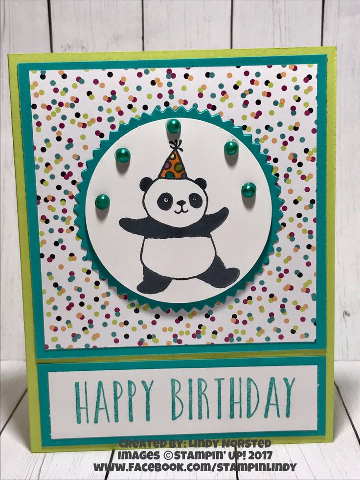 "Gotta love Stampin' Up! Sale-A-Bration ""Party Pandas"""
