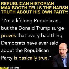 Trump is exposing the ugly underbelly of republican beliefs.