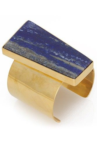 16 Pieces Of Investment-Worthy Kelly Wearstler Jewelry  #refinery29  http://www.refinery29.com/kelly-wearstler-shopping#slide-1  Kelly Wearstler Lapis Facet Cuff, $395, available at Kelly Wearstler.