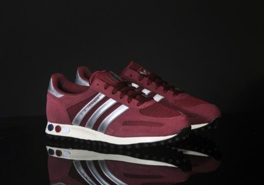Adidas LA Trainer burgundy