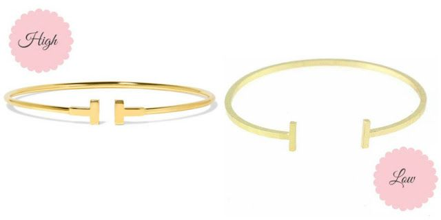 High vs. Low: Tiffany & Co. T Wire Bracelet dupes - Ioanna's Notebook
