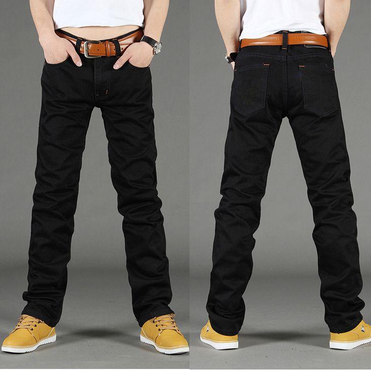 Autumn -summer new black jeans men fashion brand 2014 size 28-38 plus big pants mens trends casual denim trousers for man